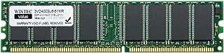 Wintec Value MHzCL3 512MB UDIMM Retail 1Rx8 512 Not a Kit (Single) DDR 400 (PC 3200) 184-Pin SDRAM 3VD4003U8-51MR