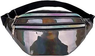 2019 Women Fanny Pack Steam Punk Leg Bag Reflective Laser Shoulder Bag Women's Belt Waist Bag Pochete Women Waist Pack