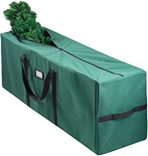 christmas tree bag for christmas tree storage bag (CANVAS) - Xmas tree bag fits 8 FT Artificial dissembled tree - Heavy ch...