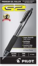 PILOT G2 Premium Refillable & Retractable Rolling Ball Gel Pens, Fine Point, Black Ink, 12 Count (31020)
