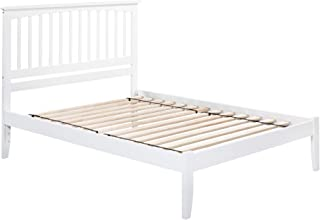 Atlantic Furniture Mission Platform Bed with Open Foot Board, Queen, White