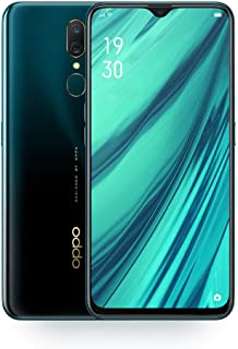 Oppo A9 6.53 Inch Mobile Phone 4G LTE Android 8.1 Octa Core Cellphone Back Fingerprint 16MP 3D Body 4020mAh (Green 4GB+128GB)