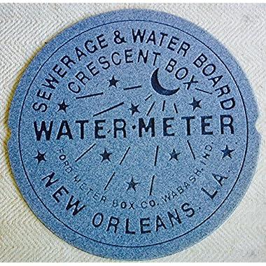 New Orleans Water Meter Doormat (Gray)