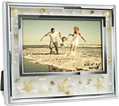 Giftgarden 4x6 Picture Frame Ocean Beach Style Glass Frames Indoor Desktop and Wall Decor for 6x4 Photo