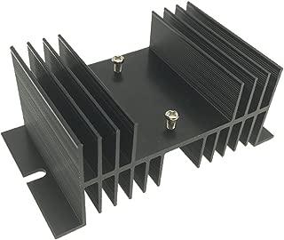Saim Black Aluminum Heatsink Heat Dissipation Sink for Solid State Relay SSR, 1 Pcs