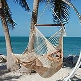 Caribbean Hammocks Large Chair - 48 Inch - Polyester - Hanging Chair - Cream