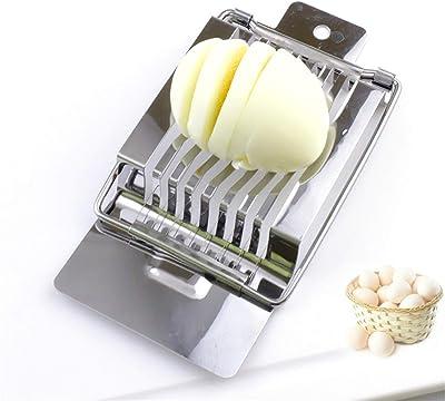 Slicer Separator Egg Cutter Food Divider Edges Kitchen Utensil Quick Split Practical Stainless Steel,Onecolor