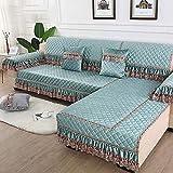 Lavable/Antiácaros Funda de sofá,Cojín de Felpa Antideslizante para sofá, Funda de sofá Universal con Todo Incluido-Azul B_90 * 90cm,Sillón Elastano Fundas de Sofá