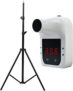 Decdeal Wall-mounted Infrared Thermometer LCD Display 0.5S Quick Test with Fever Alarm + Tripod Bracket for Thermometer, H...