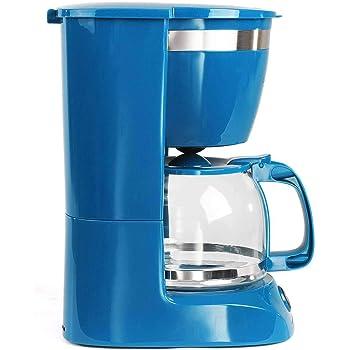 Cafetera azul con jarra de cristal para 12 tazas, función de ...