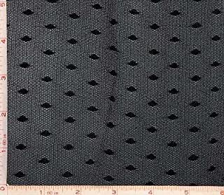 Black Mesh with Oval Dot Lace Fabric 4 Way Stretch Nylon 60-62