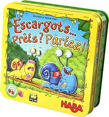 HABA Esgargots... Preparados Partez, Juego Divertido de Carrera y Dados con Caracoles magnéticos de Madera, para 2-4 Jugadores de 5 a 99 años, 304027