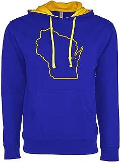 Mens Wisconsin Home Hoodie - WI Stadium Hooded Sweatshirt by Hometown Hoodies