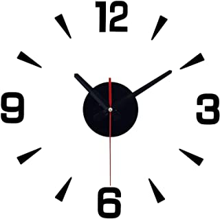 DIY Acrylic Wall Clock, 3D Modern Acrylic Mirror Surface Simple Big Size Decor Wall Clocks, Numbers Stickers Decorations, ...