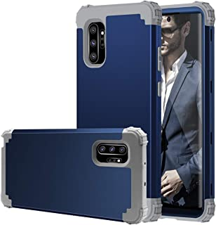 Fingic Galaxy Note 10 Plus Case, Samsung Note 10 Plus Case, 3 in 1 Hybrid Hard PC Soft Silicone Heavy Duty Rugged Bumper Shockproof Protective Phone Case for Samsung Note 10 Plus 6.8 inch, Navy Blue