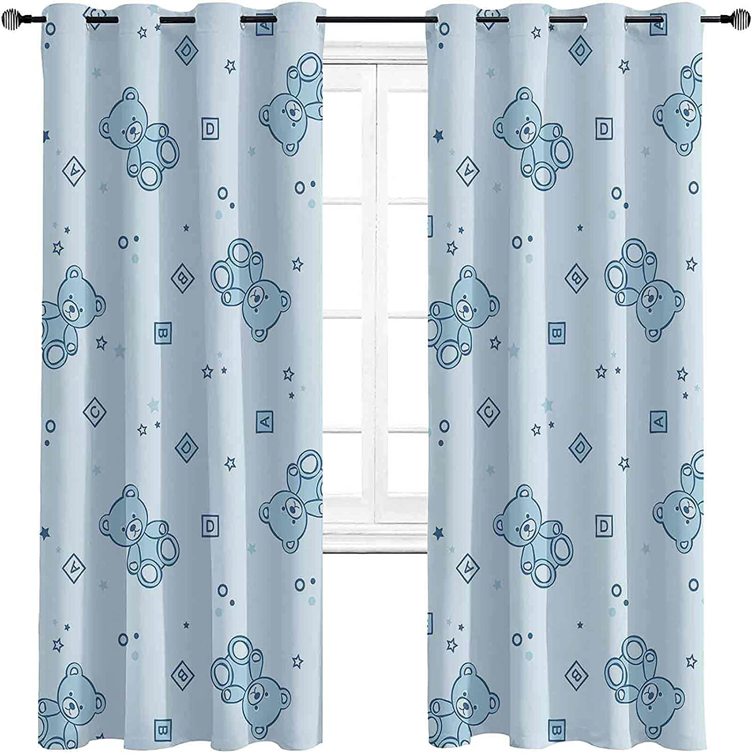 Nursery High-Strength Blackout Curtains Challenge the lowest price of Trust Japan ☆ Teddy Toys Bears and wi