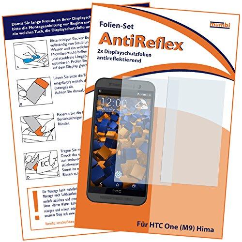mumbi Schutzfolie kompatibel mit HTC One M9 Folie matt, Bildschirmschutzfolie (2X)