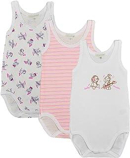 Liabel Confezione da 3 Body Neonato Mezza Manica Baby in 100/% Cotone Fantasie Varie Non Sempre corrispondenti allimmagine. Assortimento in Colore Celeste