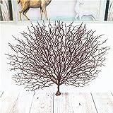 MOXUZI Rama de Coral de plástico, simulación de árbol Marino, Rama de Tronco de mar Falso de plástico, decoración del hogar de Pavo Real(Brown)