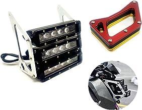 CFUS Motorfiets Retro Drie-tier LED Koplampen kuip Koplamp Hoofd Licht Lamp Voor Honda Grom MSX 125SF MSX125 2013-2016 (Goud)