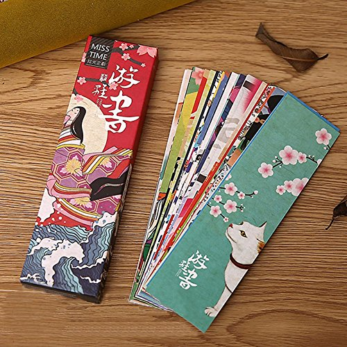 Loghot Colorful Japanese Style Paper Bookmark for Women Men Girls Boys Kids Teens