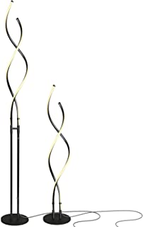 Brightech - Embrace Modern LED Floor Lamp for Living Rooms - Bright, Contemporary Standing LED Light - 40