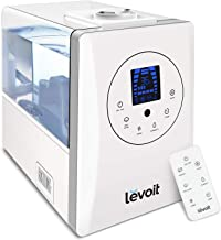 یخچال های LEVOIT، رطوبت سولاریس یخچال و فریزر 6 ل گرم برای اتاق خواب یا اتاق کودک با مانیتور از راه دور و رطوبت، بخارپز کننده برای اتاق بزرگ، خانه، اتوماتیک خاموش کردن