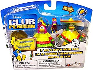 Disney Club Penguin Series 3 Mix N Match Mini Figure Pack Sombrero Guy and Fiesta Girl (Includes Coin with Code!)