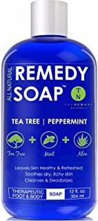 Remedy Antifungal Soap, Helps Wash Away Body Odor, Athlete's Foot, Nail Fungus, Ringworm.