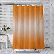 Aishare Store - Cortina de ducha, diseño moderno con rayos en color naranja medio, diseño moderno, 72 pulgadas de largo pa...