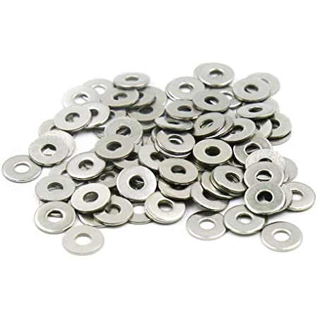 uxcell M4 x 8mm x 1mm Nylon Flat Washers Spacers Gaskets Fastener Black 300PCS