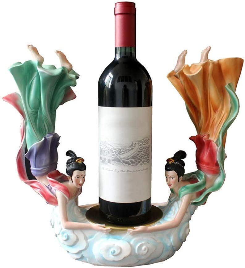 NNAA Wine Rack Chinese Max 66% OFF OFFicial shop Style Figure Shel Holder Statue