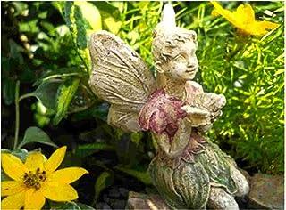 Miniature Garden Fairy Rachael Kneeling with Butterfly