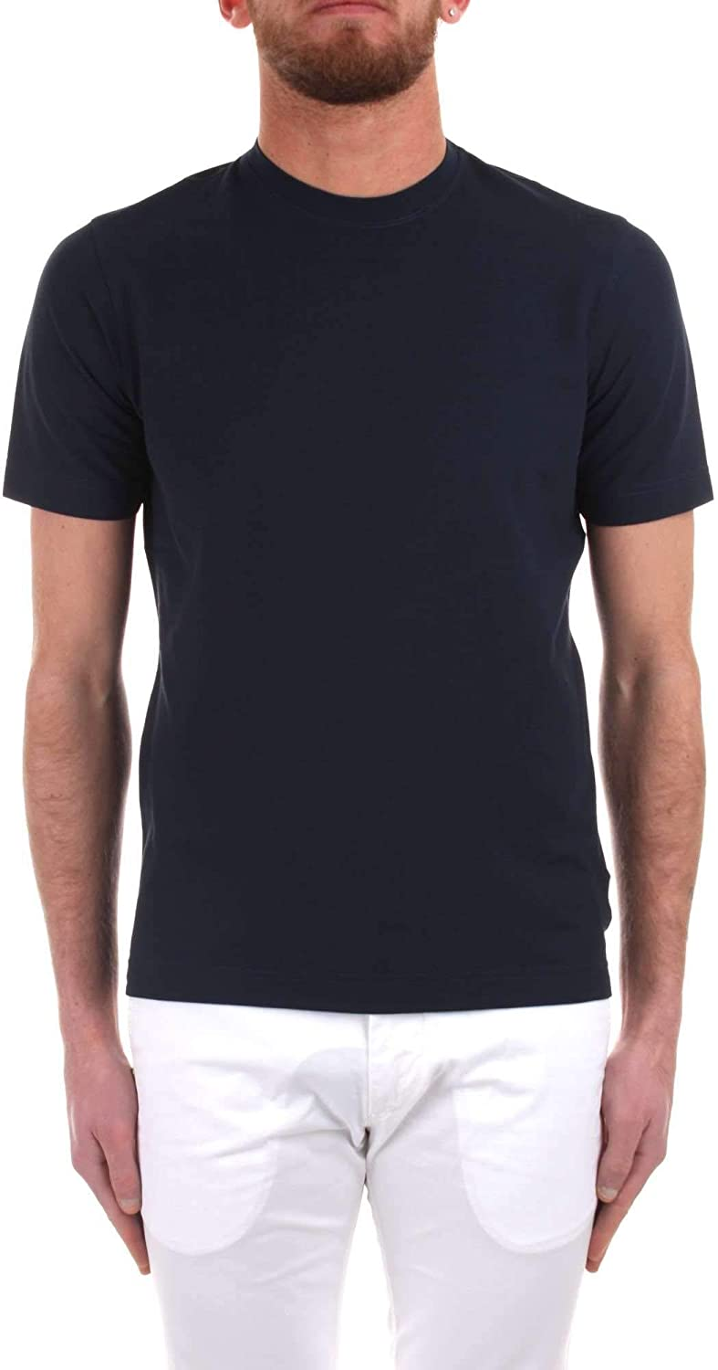 ZANONE Men's 811821Z0380Z0178 bluee Cotton TShirt
