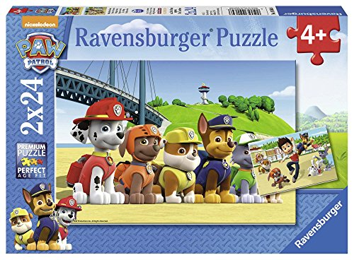 Ravensburger - Puzzle 2 x 24, Paw Patrol A (09064)