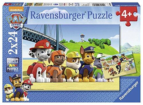 Ravensburger Kinderpuzzle 09064 - Heldenhafte Hunde - 2 x 24 Teile