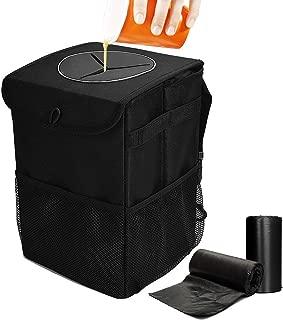 Cubo de basura port/átil universal que viaja Cubo de basura port/átil plegable Con tapa Contenedor de basura