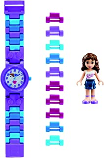 LEGO Friends Olivia Plastic Watch with Link Bracelet and Figurine