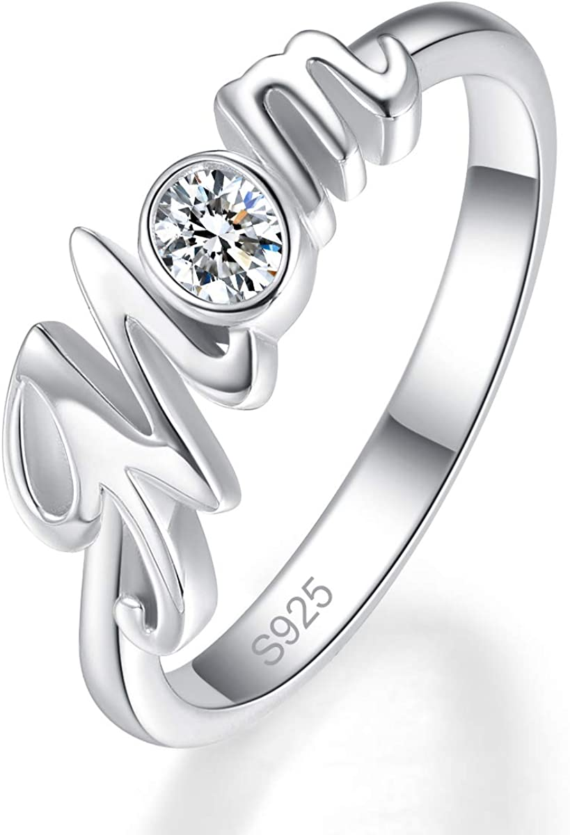 AVECON Silver Spring new work Ring 925 Sterling Oval Zir White Dealing full price reduction Cut Cubic