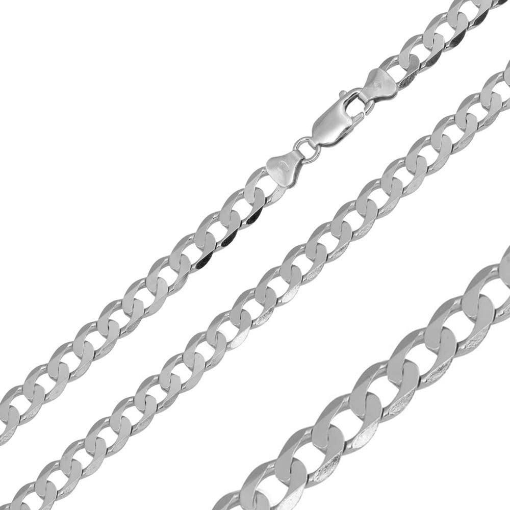 925 Sterling Silver Max 68% OFF Necklace Thin 1.2mm P 6.6mm Rhodium Thick to Directly managed store