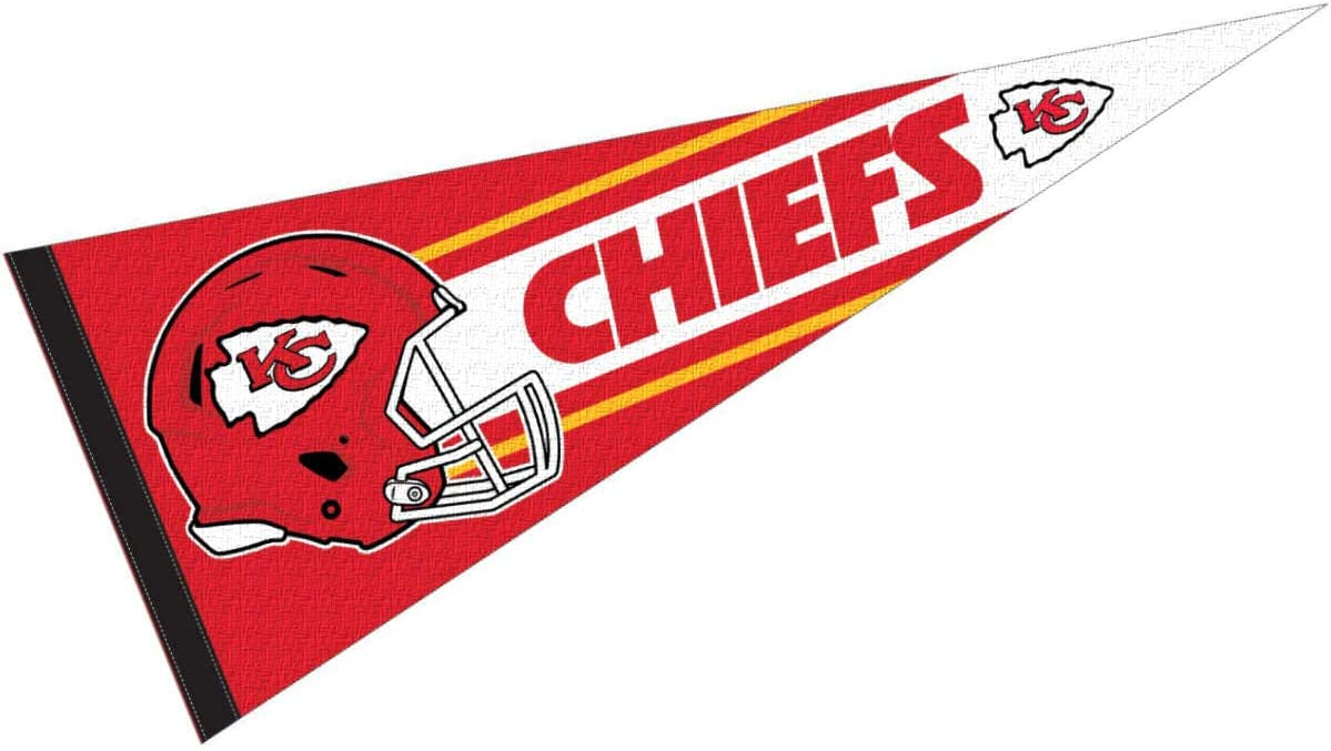 WinCraft Kansas City Chiefs Official 30 inch Large Pennant