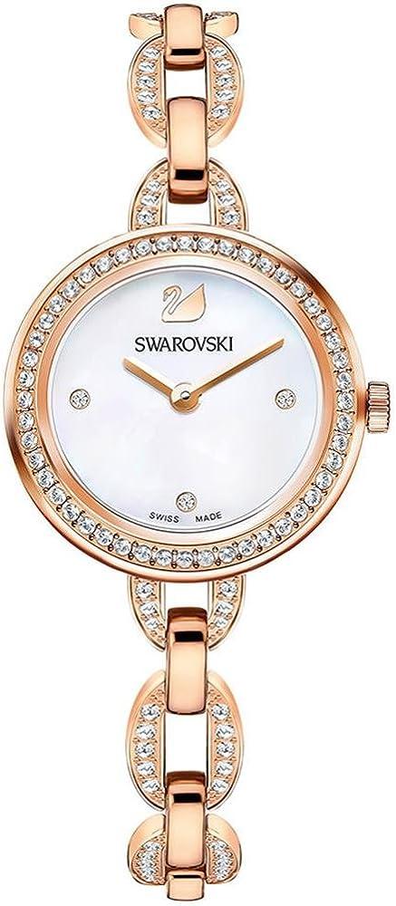 Swarovski aila orologio da donna in acciaio rosa e quadrante madreperla 2724664106943