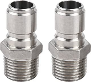 ProMaker 2 Pack Stainless Steel Male Quick Disconnect FPT 1/2