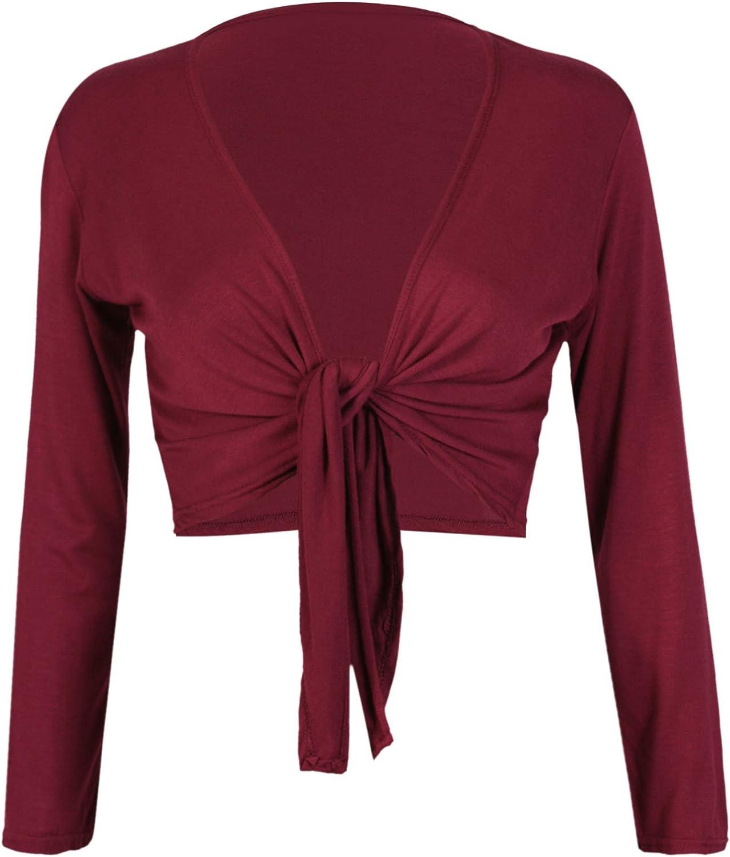 Women's Long Sleeve Bolero Crop Cardigan Tie Shrug