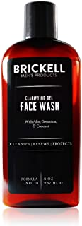 Brickell Men's Clarifying Gel Face Wash for Men, Natural and Organic Rich Foaming Daily Facial Cleanser Formulated With Ge...