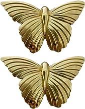 2 Stks van messing vlinder kast knoppen, gouden toon kast deur knoppen decoratieve dressoir lade trekt handvat voor dresso...