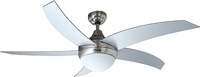 Bestron DCF52LSR Ventilateur de plafond avec éclairage 60 W 220 V Argent/Gris