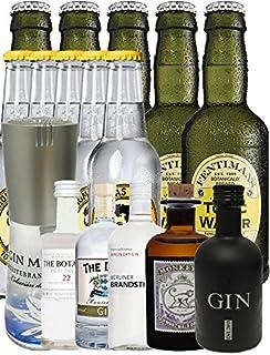 Gin Probierset Groß 1 x Gin Mare 0,1 Liter  Botanist 5 cl  Duke 5 cl  Brandstifter 0,1 Liter  Monkey 5 cl, Black Gin 5 cl  5 Thomas Henry Tonic 0,2 Liter  5 Fentimans Tonic 0,2 Liter