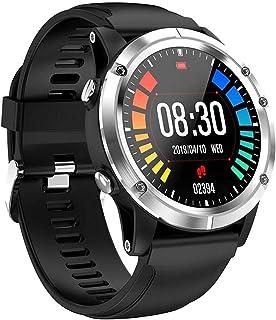 """hwbq Smart Horloge 1.3 """"volledige ronde scherm metalen body knop bediening stappenteller beweging slimme slaap dagelijkse ..."""