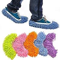 Lieferumfang: 1Paar Schuh-Überzieher (zufällige Farben). Größe: ca. 24 x 12cm. Größe passt für Schuhe der Größe 36–44. Material: Mikrofaser-Chenille.